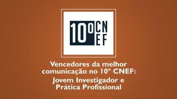Vencedores melhor comunicação 10 CNEF